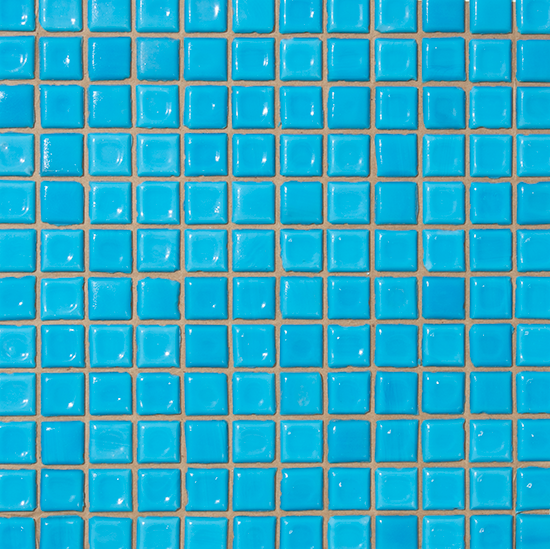 1 In Opaque Light Peacock Blue Glass Tile