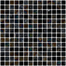 3/4 Inch Black Iridescent Glass Tile