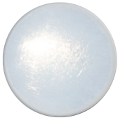 1 INCH ROUND WHITE iridescent FUSED GLASS ACCENT TILE