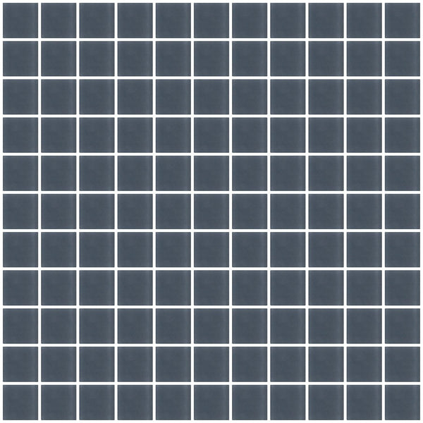 1 Inch Dark Gray Frosted Glass Tile