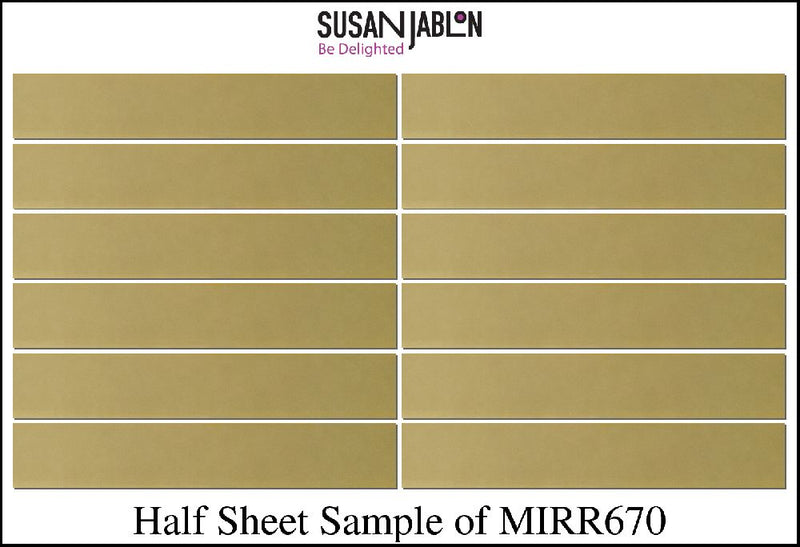 Half Sheet Sample of MIRR670