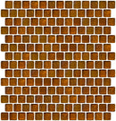 3/4 Inch Amber Brown Iridescent Glass Tile Offset