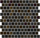 1 Inch Black Iridescent Glass Tile Reset In Offset Layout