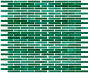 1/4 Inch Emerald Green Stained Glass Subway Tile