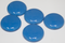 1 Inch Round Egyptian Blue Opaque Fused Glass Accent Tile