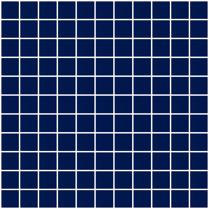 1 Inch Navy Blue Frosted Glass Tile