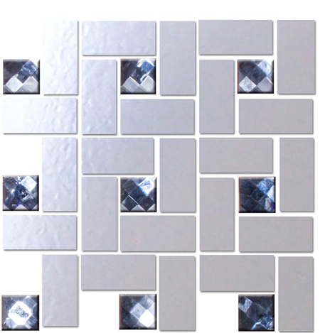 Quarter Sheet of LOOKING GLASS MIRROR AND GREY DIAMOND BLING BLEND