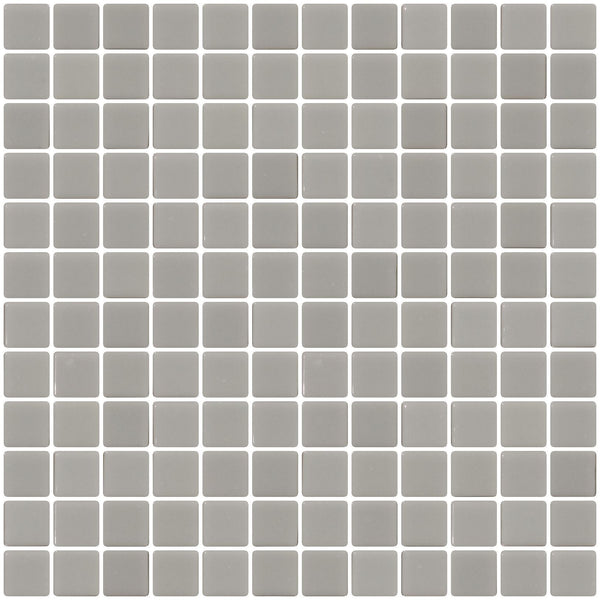 1 Inch Light Gray Recycled Glass Tile