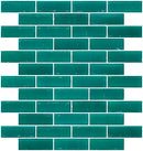 1x3 Inch Matte Teal Green Glass Subway Tile