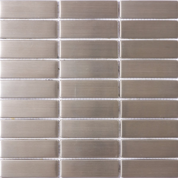 8mm 1 1/4 x 3 3/4 Inch Stainless Steel Subway Tile