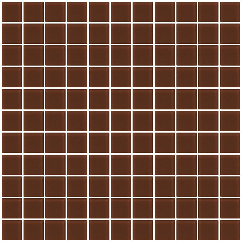1 Inch Brown Frosted Glass Tile