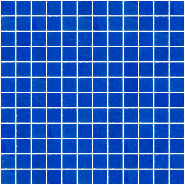 1 Inch Opaque Cobalt Blue Glass Tile