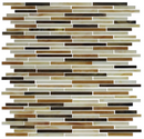 Brown and White STIX Stained Glass Tile