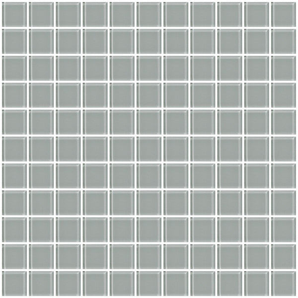 1 Inch Gray Glass Tile