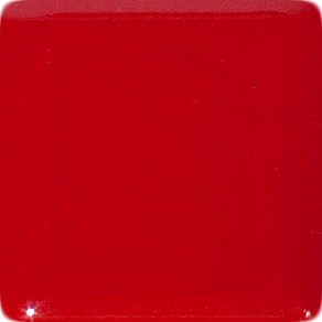 2 Inch Red Opaque Fused Glass Accent Tile