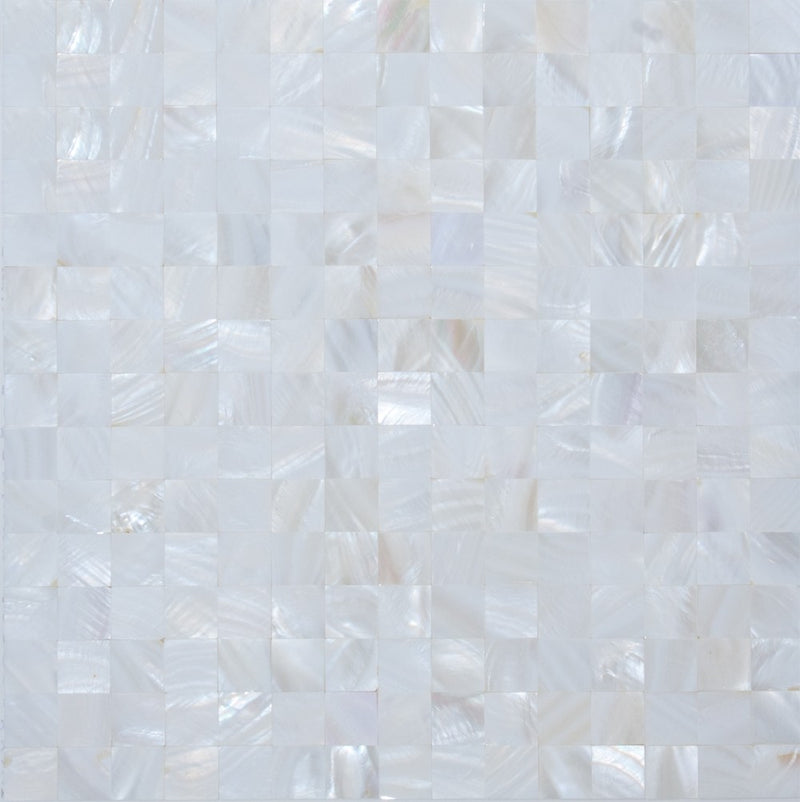 3/4 Inch Crest White Shell Tile