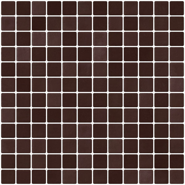1 Inch Smooth Chocolate Brown Recycled Glass Tile