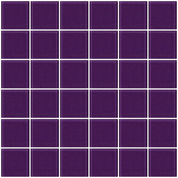2x2 Inch Lavender Purple Glass Tile