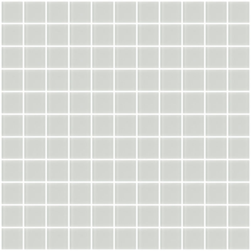 1 Inch White Frosted Glass Tile
