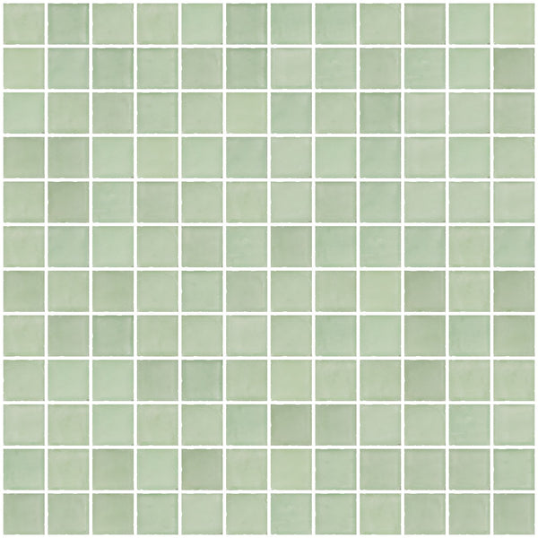 1 Inch Matte Green Glass Tile