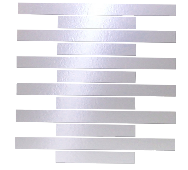 1x6 & 1x12 Inch Silver Mirrored Glass Tile