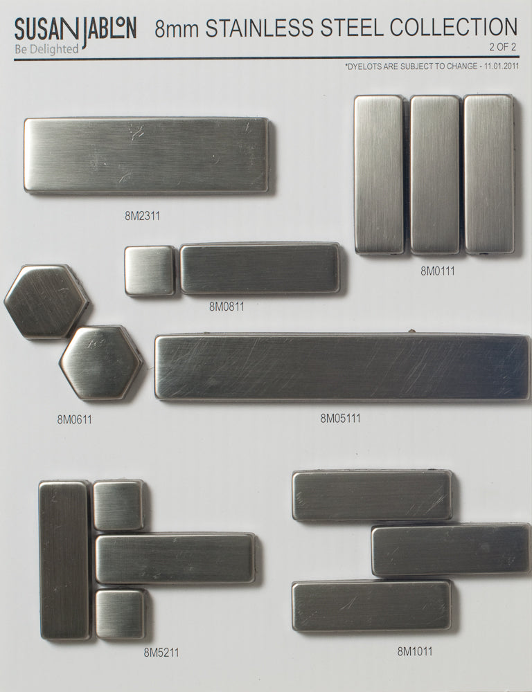 8mm Stainless Steel Sample Board Set