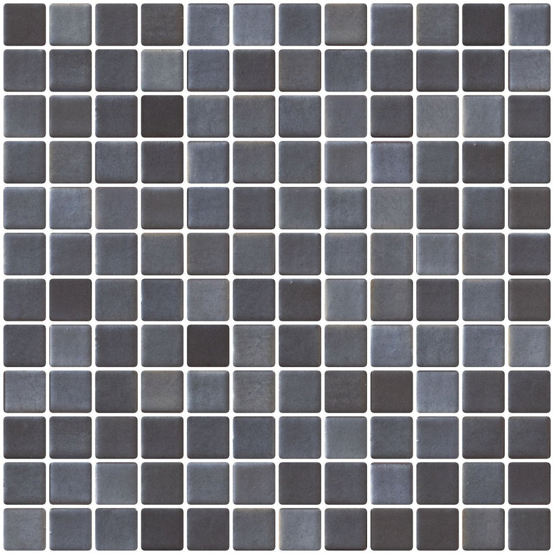 1 Inch Faux Stainless Steel Gray Recycled Glass Tile