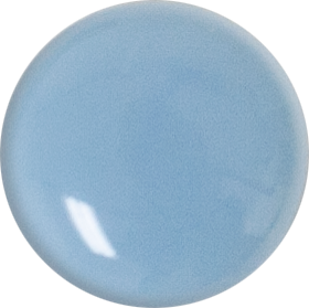 1 Inch Round Powder Blue Opaque Fused Glass Accent Tile