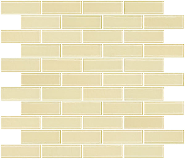 1x3 Inch Medium Gold Metallic Glass Subway Tile