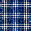 3/4 Inch Cobalt Blue Iridescent Glass Tile