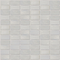 1x2 Inch Icy White Transparent Glass Subway Tile Stacked Layout