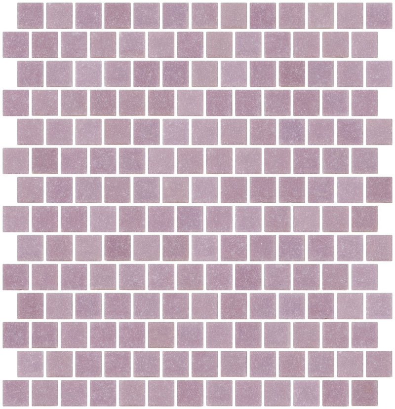 3/4 Inch Lavender Purple Glass Tile Reset In Offset Layout
