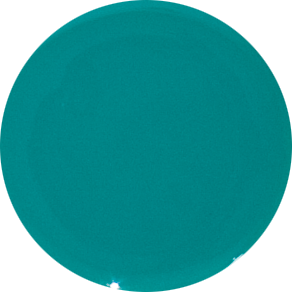 2 Inch Round Turquoise Opaque Fused Glass Accent Tile