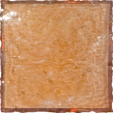 Sample of 2x2 Inch Peach Pink Iridescent Glass Tile