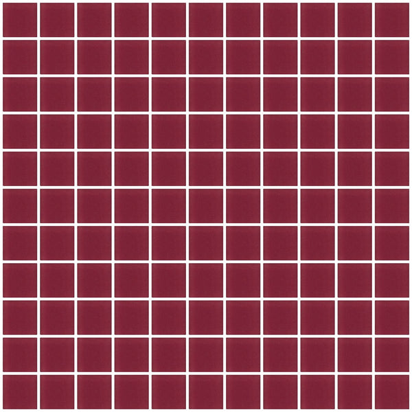 1 Inch Burgundy Red Frosted Glass Tile