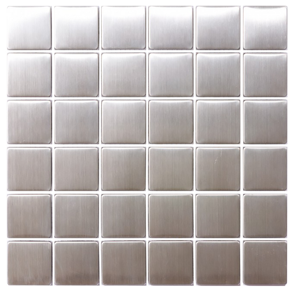 8mm 2 Inch Square Stainless Steel Tile