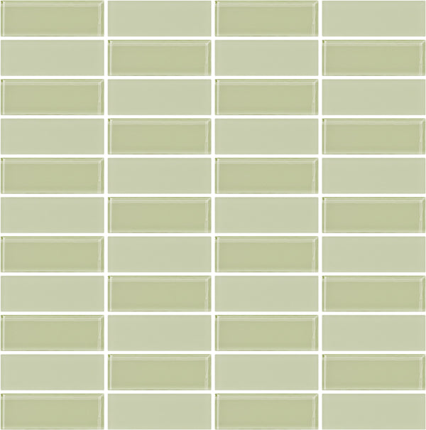 Tuxedo Light Celery Green Mosaic Tile Design