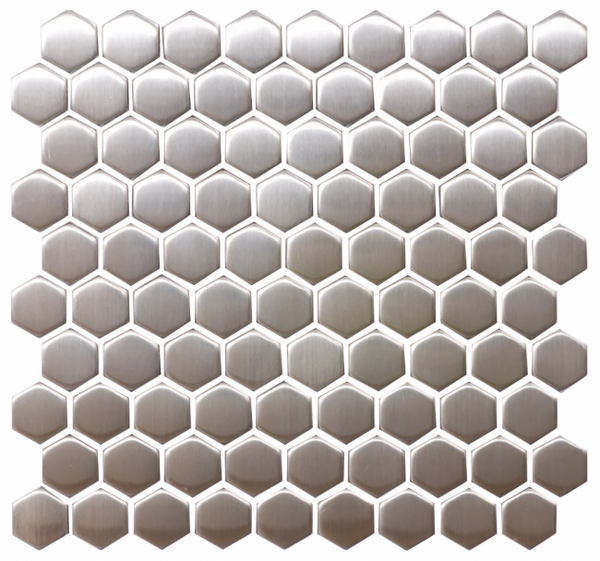 1 1/4 Inch Hexagon Stainless Steel Tile