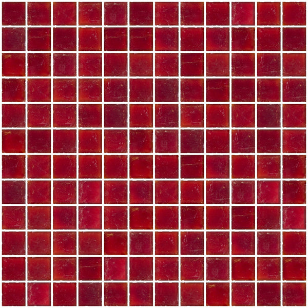 1 Inch Matte Red Glass Tile