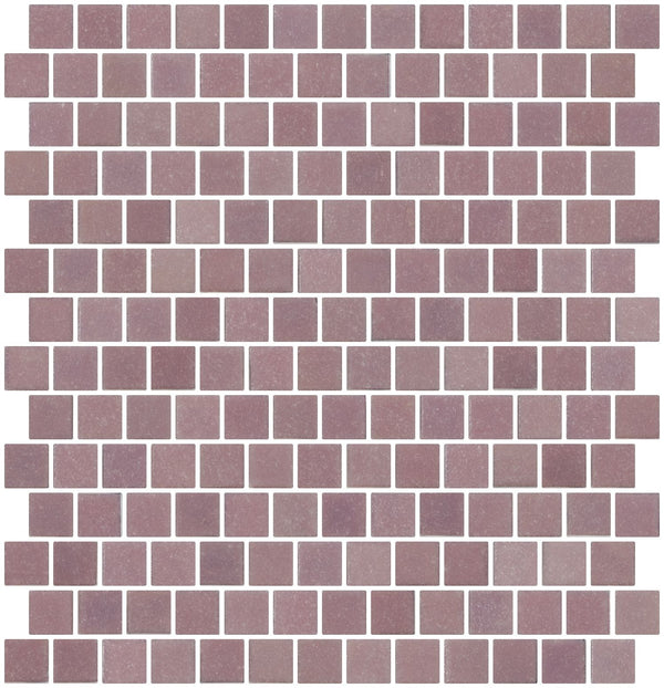 3/4 Inch Light Lavender Purple Glass Tile Reset In Offset Layout