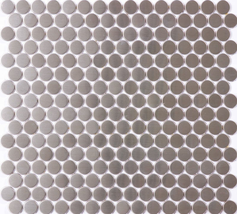 8mm 3/4 Inch Round Stainless Steel Tile