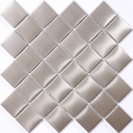 8mm Stainless Steel Tile Diamond Mosaic