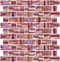 Ruby Red Iridescent Recycled Glass Tile