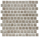 1 Inch Espresso Brown Satin Metallic Glass Tile Reset In Offset Layout