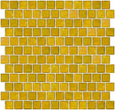 1 Inch Deep Sunshine Yellow Iridescent Glass Tile Reset In Offset Layout