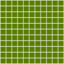 1 Inch Dark Lime Green Glass Tile