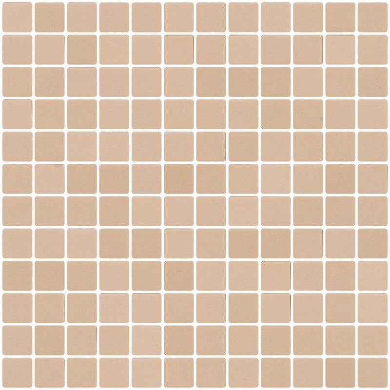 1 Inch Light Khaki Brown Recycled Glass Tile