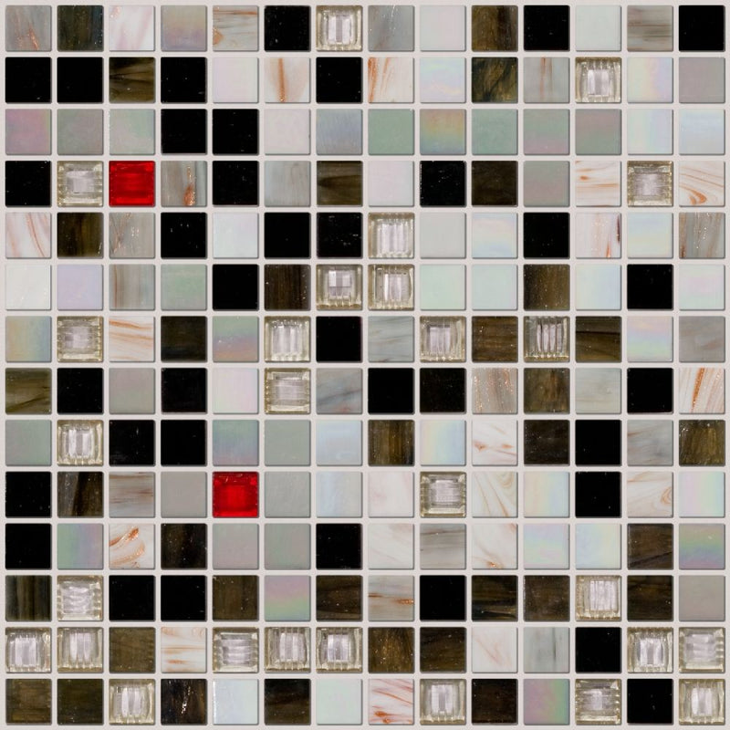 Skyline Glass Mosaic Tile Blend