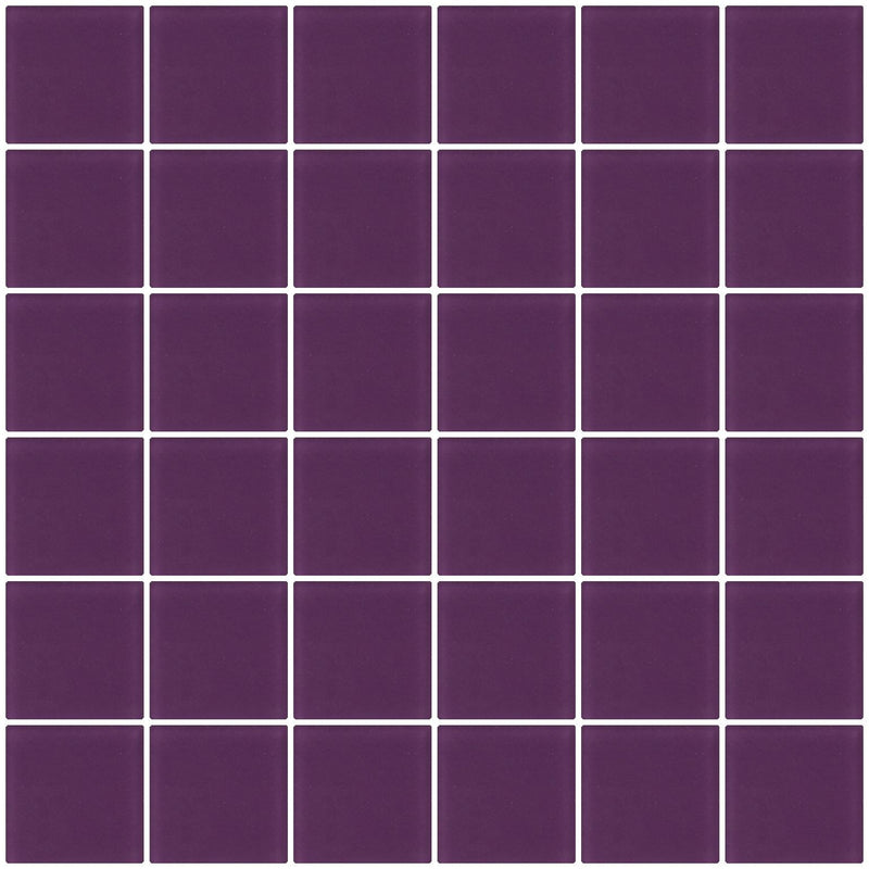 2x2 Inch Lavender Purple Frosted Glass Tile