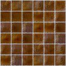 2x2 Inch Deep Brown Iridescent Glass Tile